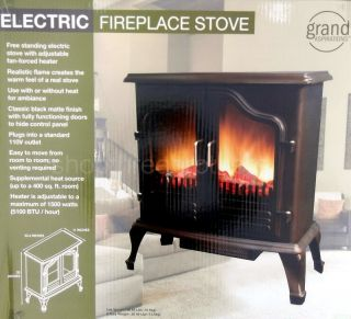 New Free Standing Portable Electric Fireplace Stove Space Heater 5100