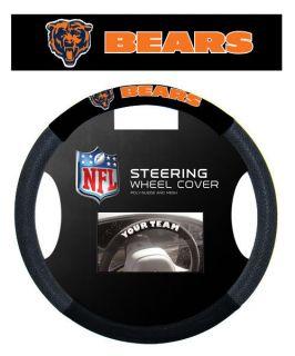Chicago Bears NFL Suede Mesh Car Steering Wheel Cover
