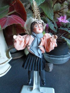 little french doll bisque swivel head in french antique clothes compo