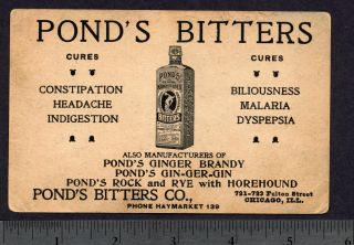 Gar Ponds Bitters Malaria Cure Ginger Brandy Risque Lady Civil War