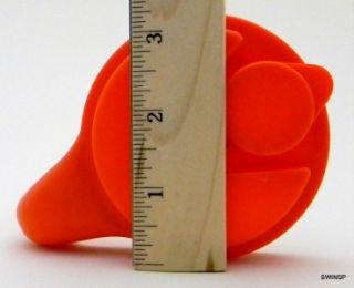 Decanter Vintage Anchor Hocking Glass w Orange Plastic Lid 1 Qt