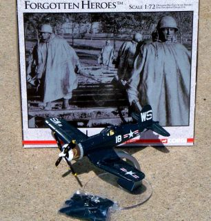 Corgi Forgotten Heroes F4U 4A Corsair BUNO 96845 USMC Airplane Korea