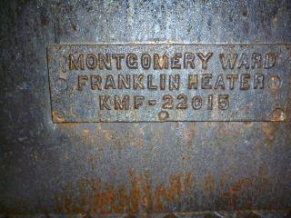 MONTGOMERY WARD FRANKLIN HEATER