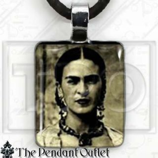 Frida Kahlo DOD Dia de Los Muertos Photo Charm Necklace