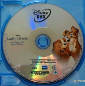 Lady and The Tramp 2012 DVD Disc Only
