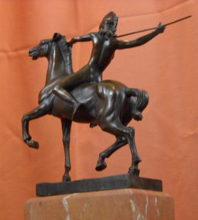 Original Signed  Bronze Statue Franz Von Stuck