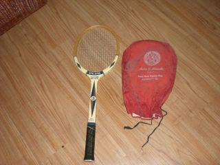 Vintage Fred Stolle Spalding Pro Flite Wood Tennis Racket Racquet