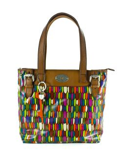 Fossil Key per Shopper Coated Canvas Handbag Multi New