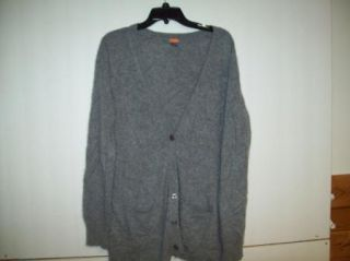 Forte 100 Cashmere Sweater Womens XL Cardigan Extremely Soft Gray