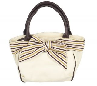 Fortuna Valentino Double Handle Canvas Shoulder Tote Bag With Coin