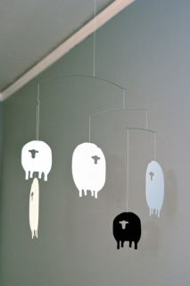 Flensted Mobiles Sheep Hanging Floating Mobile Nursery Crib Baby Kids