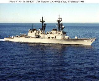 USS Fletcher DD 992 Westpac Deployment Westpac Cruise Book Year Log