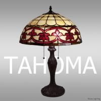 New Fleur de Lis Tiffany Style Stained Glass Table Lamp