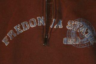 Fredonia State College Zip Sweatshirt Men Women s Brown