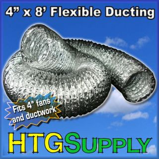 inch x 8 ft Flexible Ducting Duct Exhaust Fan Blower