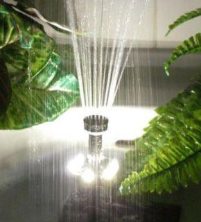 Solar Fountain Pond Water Pump Panel 409GPH Pump Kit Garden Feature