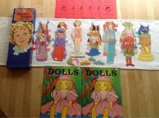 Vintage Shirley Temple Paper Doll Notecards Coloring Books Lot