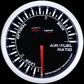 52mm Depo Racing White LED Air Fuel Ratio Gauge Guage Sport Defi Glow