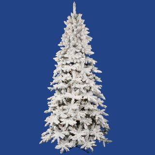 foot lighted olympia fir flocked artificial christmas tree