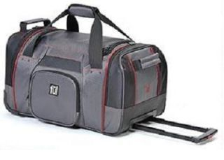 Ful Rolling Duffel 21 Wheeled Carry on Luggage Grey Red