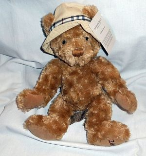 BURBERRY FRAGRANCES 2006 PLUSH STUFFED TEDDY BEAR *BROWN TAG