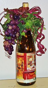 French Wine Shop Lighted Wine Bottle Accent Decor Lamp Light