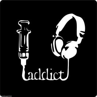 Music Junkie Addict ★drug Headset Headphones Retro Rock Funk Punk