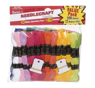 100 Skeins Cotton Embroidery Floss Craft Thread