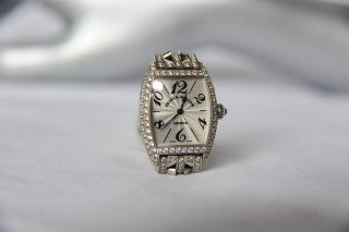 Franck Muller Ladies 2251 MC Diamond 18K White Gold Watch Ed Cintree