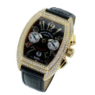 Franck Muller 8005cc King Conquistador 18K Diamond Watch Mens