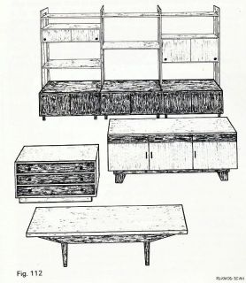 1968 Modern Furniture Construction Veneering Chairs Sofas Cabinets Mid