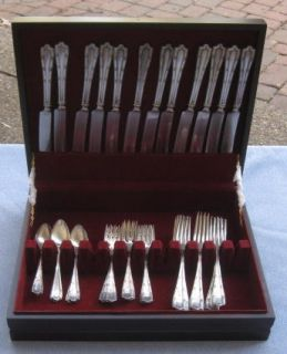 Pcs Alvin Sterling Silver Francis I Flatware with New Wood Box