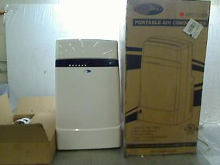12,000 BTU Dual Hose Portable Air Conditioner with Heater, Frost White