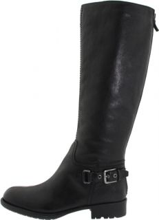 Franco Sarto Womens L Profile Knee High Boot Black Calf Leather