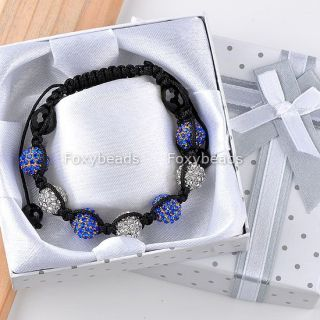 Disco Crystal Ball Bead Friendship Bracelet Box Christmas Gift