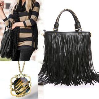 Tassel Fringe Handbag Tote Hobo Shoulder Bag Messenger Bag