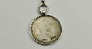 Joseph Sewills Solid Silver Pocket Watch Chain Football Fob