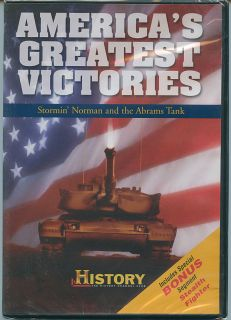 Americas Greatest Victories DVD Stormin Norman and Abrams Tank Free