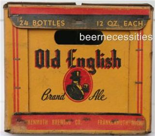 Frankenmuth Old English Brand Ale 1950 Beer Case Michigan Mich MI