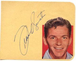 Frank Sinatra Vintage 1940s Original Signed Album Page Autographed