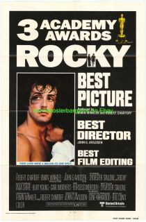 MOVIE POSTER ACADEMY AWARDS VERSION ONE SHEET SYLVESTER STALLONE