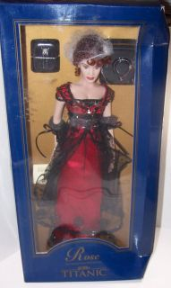 Franklin Mint Titanic Rose Vinyl Doll in The Red Jump Dress 16