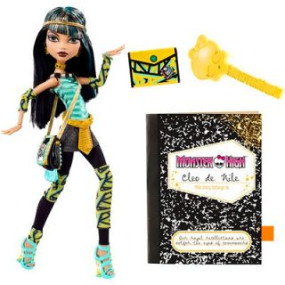 Monster High Cleo de Nile Doll Class Room Dressed with diary