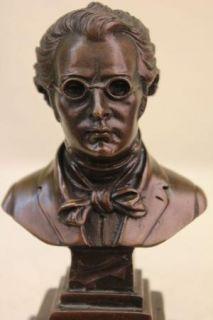 Composer Franz Seraphicus Peter Schubert Bronze Statue Western Art