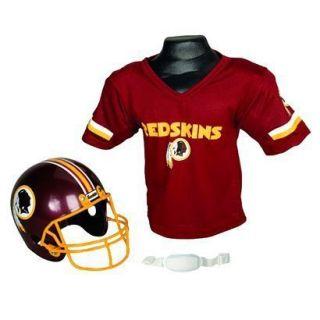 Franklin Sports NFL Football Redskins Helmet / Jersey Set Kids sz 4 16
