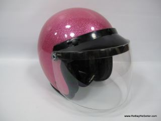 Fulmer AF 20 Pink Bobber 22B Helmet Metal Flake Sparkle Large