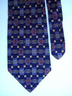 4216 Navy STUDIO FUMAGALLIS Silk Necktie Mens Tie