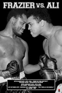Muhammad Ali vs Joe Frazier 1970s Commemorative Boxing Poster