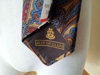New Robert Talbott Best of Class Gold Red Paisley Tie