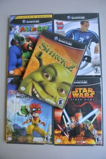 Lot of 5 Nintendo Gamecube Games Mario Golf, Shrek 2, Lego Star Wars